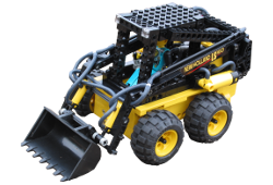 Lego Technic bobcat skid steer loader model